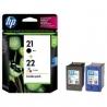 Cartucho de tinta HP 21+22 Negro/Tricolor Original