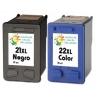 Cartucho de tinta HP 21XL+22XL Negro/Tricolor Premium