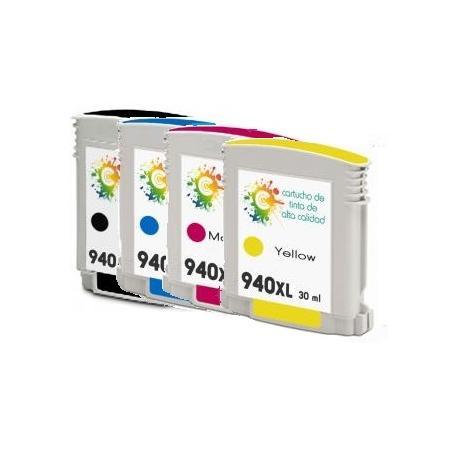 Cartucho de tinta HP 940XL Pack 4 colores Premium