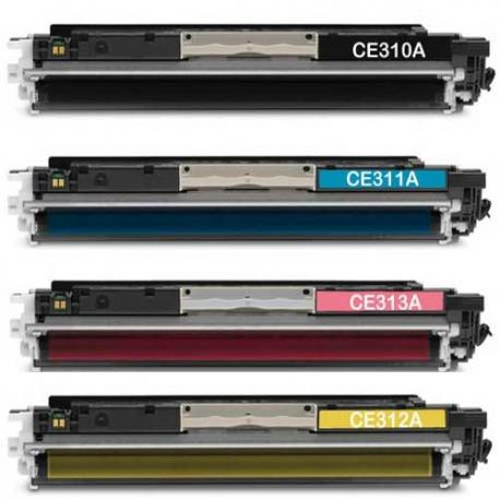 Tóner HP CE310/1/2/3A Pack 4 colores Compatible
