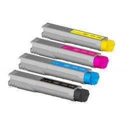 Tóner OKI C3300 Pack 4 colores Compatible