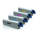 Tóner OKI C801/821 Pack 4 colores Compatible
