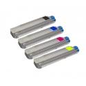 Tóner OKI C8600/8800 Pack 4 colores Compatible