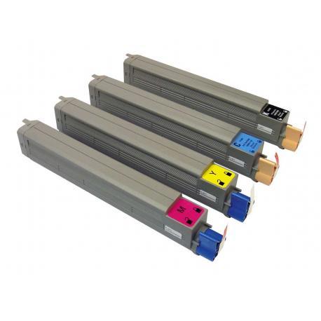 Tóner OKI C9600 Pack 4 colores Compatible