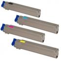 Tóner OKI C9655 Pack 4 colores Compatible