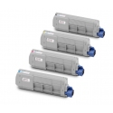 Tóner OKI MC851/861 Pack 4 colores Compatible