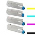 Tóner OKI ES2232A4 / ES2632A4 / ES5460 Pack 4 colores Compatible