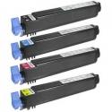 Tóner OKI ES3640E / ES3640EX Pack 4 colores Compatible