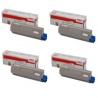 Tóner OKI ES7411 / ES3032A4 Pack 4 colores Compatible