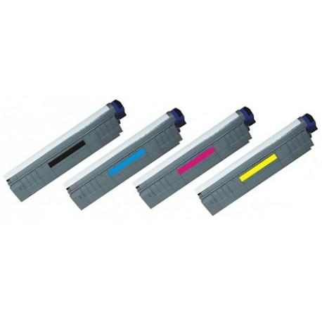 Tóner OKI ES8451/ ES8451CDN / ES8461 / ES8461CDXN Pack 4 colores Compatible