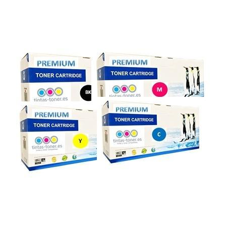 Tóner OKI ES8451/ ES8451CDN / ES8461 / ES8461CDXN Pack 4 colores Premium