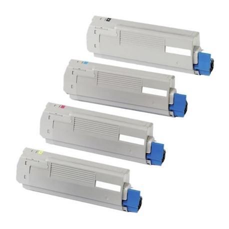 Tóner OKI ES2426 / ES2024 Pack 4 colores Compatible