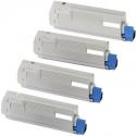 Tóner OKI ES8431/ ES8441 Pack 4 colores Compatible