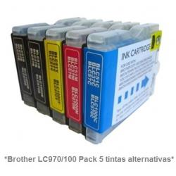 Cartucho de tinta compatible Brother LC970/1000Y