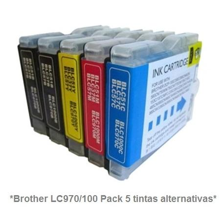 Cartucho de tinta compatible Brother LC970/1000Y