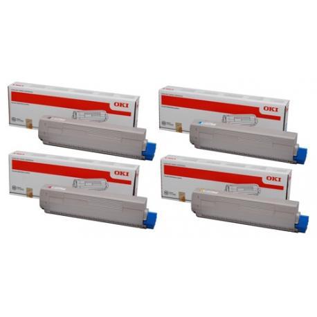 Tóner OKI C831 / C831n / C831dn / C831cdtn / C841 / C841n / C841dn / C841cdtn Pack 4 colores Compatible