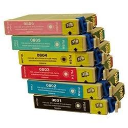 Cartucho de tinta EPSON T0807 Multipack 6 tintas Compatible