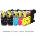 Pack de 5 tintas Premium Brother LC121/123