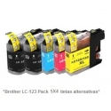 Pack de 20 tintas compatible Brother LC121/123