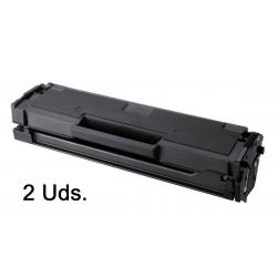 Tóner Samsung ML-2160 / ML-2165 / SCX-3400 / SCX-3405 / SF-760P / SF-765P Negro Pack 2 Uds. Compatible