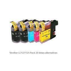Pack de 20 tintas compatible Brother LC127/125
