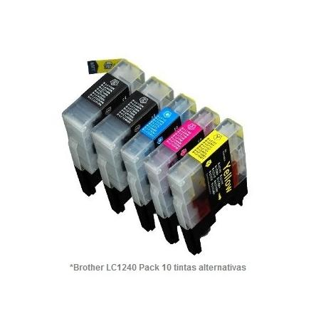 Pack de 10 tintas compatible Brother LC1220/1240