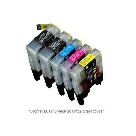 Pack de 20 tintas compatible Brother LC1220/1240