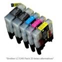 Pack de 20 tintas Premium Brother LC1220/1240