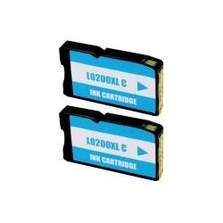 Cartucho de Tinta Lexmark 200XL Cyan Pack 2 Uds. Compatible
