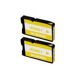 Cartucho de Tinta Lexmark 200XL Amarillo Pack 2 Uds. Compatible