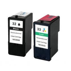 Cartucho de Tinta Lexmark 32+33 Negro/Tricolor Compatible
