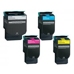 Toner Lexmark C540H1G Pack 4 colores Compatible
