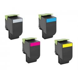 Toner Lexmark 802H Pack 4 colores Compatible