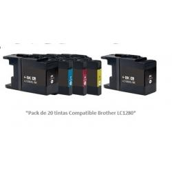 Pack de 20 tintas Premium Brother LC1280