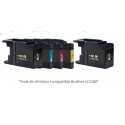 Pack de 20 tintas compatible Brother LC1280