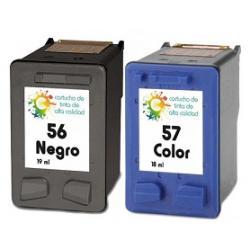Cartucho de Tinta HP56/HP57 Negro/Tricolor Compatible