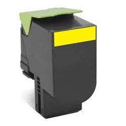Toner Lexmark 802SY Amarillo Compatible
