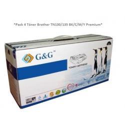 Tóner Brother TN-135 Pack 4 colores Premium