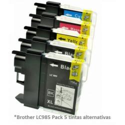Pack de 5 tintas Premium Brother LC985