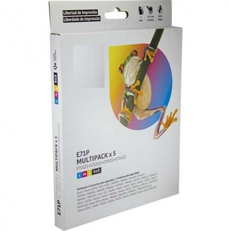 Tinta EPSON T0715 Multipack 5 tintas Compatible