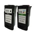 Pack de tinta compatible Canon PG-512/CL-513