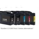 Pack de 5 tintas Premium Brother LC1280