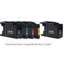 Pack de 10 tintas Premium Brother LC1280