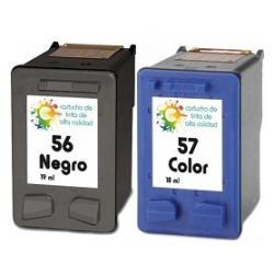 Cartucho de tinta HP 56+57 Negro/Tricolor Premium