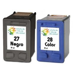 Cartucho de tinta HP 27+28 Negro/Tricolor Premium