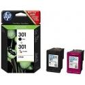 Cartucho de tinta HP 301 Pack 2 BK/C Original