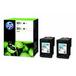 Cartucho de tinta HP 301XL Negro Pack 2 Original