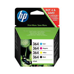 Cartucho de tinta HP 364 Pack 4 colores Original