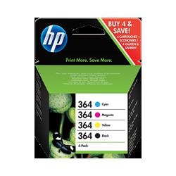 Tinta HP 364 Pack 4 colores Original